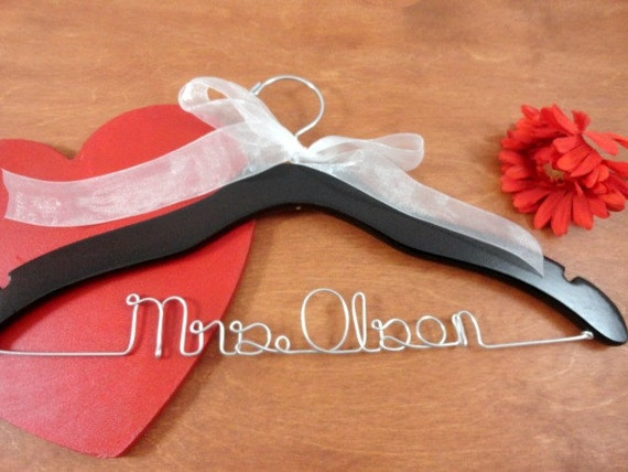 Personalized bridal hangers personalized hangers wedding dress for Custom hangers for wedding dress