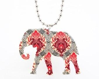 Damask Elephant Necklace