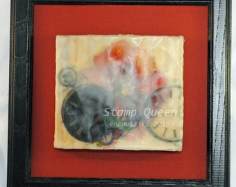 Timeless Poppies 3 - Encaustic wax painting