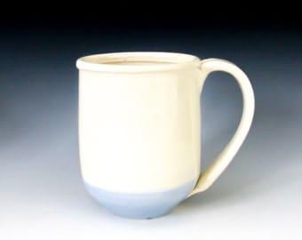 Handmade Coffee Mug, White Mug, Pottery Mug, Stoneware Mug, Ceramic Mug, Tea Cup, Simple White Mug,  Coffee Lover's Gift