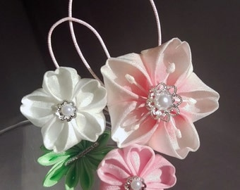 Cherry Blossom Trio with Leaf Hairpin I