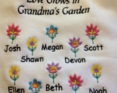 LOVE GROWS in Grandma/Mom/Aunt Garden  - Sweatshirt - U Pic Size and Collar - Small to XXLarge