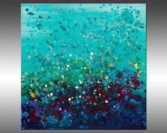 Ocean Break 2 - Original Abstract Painting, Contemporary Modern Art Paintings, Canvas Wall Art