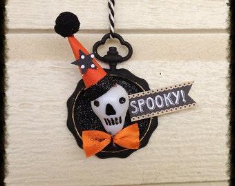 Halloween Decoration Skull Pocket Watch Halloween Ornament Halloween Decoration