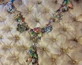 RESERVED Vintage Floral Assemblage Necklace
