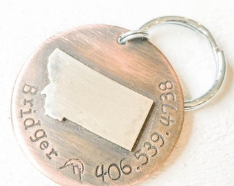 Not all dog tags are created equal. Pet id tags handcrafted in Bozeman, Montana personalized to your custom request. Montana Pet Tag