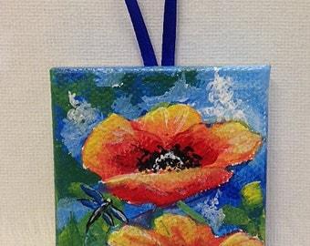 Mini Poppy Painting