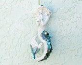 Ornament Mermaid, Seashell Mermaid, Mermaid Bling, Christmas Tree Decor, Coastal Beach Xmas Decor,Mermaid Statue Ornament,Mermaid Figurine