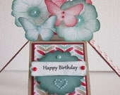 Happy Birthday Pop Up Card In A Box Flowers and Butterflies