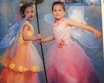 McCalls 3365 - Girl's Flower Fairy Costume Pattern sz 3-8