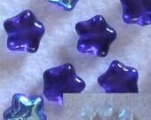 Star Beads, Cobalt Star Beads, Blue Star Beads, Diy Jewelry Supplies, Czech Beads, Glass Beads, Celestial Beads, Glass Star Beads