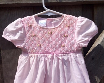Smocked Baby Dress 3/6 Months