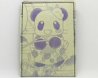Sewn Comic Book Wallet - Authentic Japanese Anime / Manga - Panda