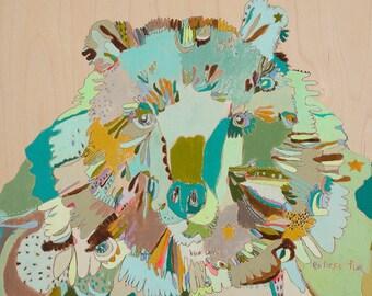 Endless Fur Canvas Bear Art Print by Jennifer Mercede