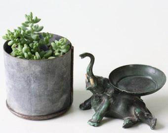 Vintage Green Elephant, Ring Holder