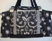 Deluxe Knitting/Crochet Tote Bag/Project Bag/Two Pocket Yarn Organizer/Handmade Tapestry Knitting Bag- MAKE A WISH