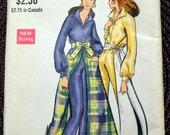 Vintage 1960's  Sewing Pattern Vogue 7774 Misses' Jumpsuit  Bust 32 inches Complete Hostess  Jumpsuit