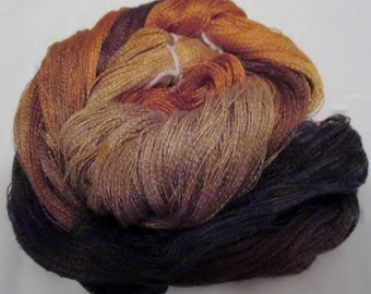 Hand dyed Tencel Yarn - 900 yds. Lace Wt. Tencel Yarn  BLACK HILLS GOLD