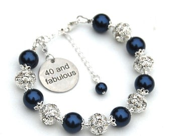 40th Birthday Gift for Her, 40 and Fabulous, 40 Charm Bracelet, Special Birthday Jewelry, 40th Birthday for Her, 40th Birthday Jewelry Gift