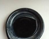 BLACK,  spoon rest, , handmade ,pottery, ceramic ready to ship spr1