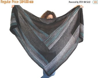WINTER SALE 20% NEW! Oversize Mohair Triangle Shawl by Afra