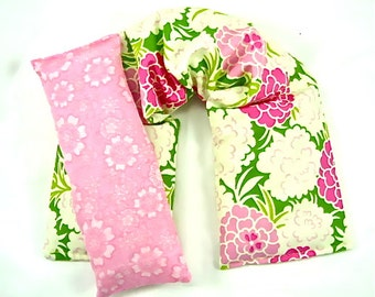 Heat Pack Neck Wrap Eye Pillow Set/ Hot/Cold Therapy,Heating Pad,Heat Pack,Rice Pack
