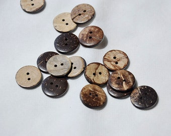 25pcs+ 15mm/17mm Coconut Shell Buttons