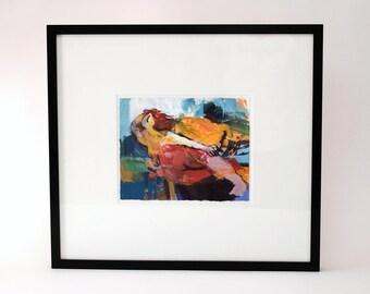Abstract Painting by Hessam Abrishami, circa 1996
