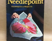 VINTAGE Needlepoint Techniques & Projects - A Sunset Book  - Vintage Needlepoint / Needlepoint Book / Needle Point