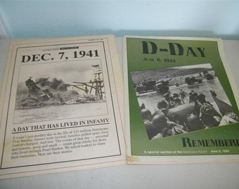 Florida Newspaper Special Report Anniversary issue December 7 1991 & D Day 11937