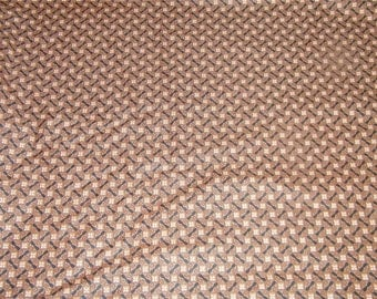 1 Yard Vintage Brown Calico Quilting Fabric 12276 Small Print Pinwheel