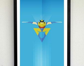 Minimalist X-men Wolverine poster