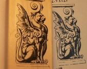 Gargoyle-Dragon Rubber Stamp WM P14