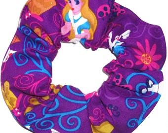 Disney Alice in Wonderland Cheshire Cat Fabric Hair Scrunchie Scrunchies by Sherry Purple