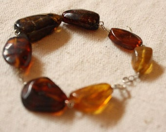 Amber Bracelet Chiapas Amber Jewelry Light Weight Bracelet Silver Mexican Amber Pulsera Amber Joyeria Amber Amber Chiapas Mexican Amber