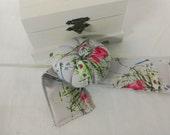 Wrist  Pin Cushion -   Dragonflies & Wildflowers Cotton Print
