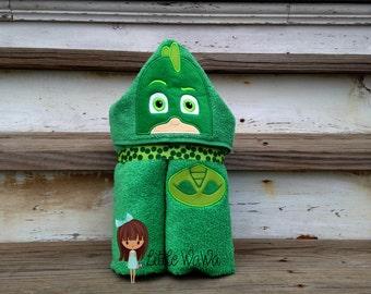Bedtime Heroes Hooded Towel PJ Masks Gecko