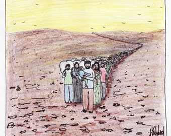 Refugees not Refusees CARTOON