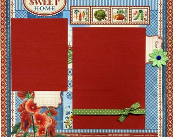 12x12 Premade Scrapbook Page - Home Sweet Home