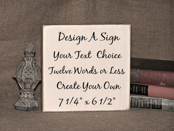 Design a custom sign wood home decor create your own for Design your own house sign