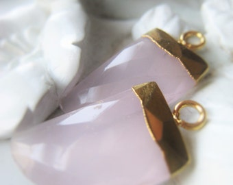 Gemstone Tooth Pendant Pink Chalcedony Tooth Fang Tusk  Item No. 0566-30 0443-30