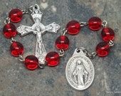Ten Virtues of Mary Chaplet of Czech Glass in Your Choice of Color; Catholic Chaplet; Ten Virtues Chaplet; Mary Chaplet; Tenner Chaplet