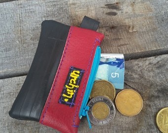 Eco friendly - Vegan change purse -Bike inner tube