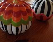 Whimsical Pumpkins Fall Decor Thanksgiving Decor Mackenzie - Childs INSPIRED Home Decor
