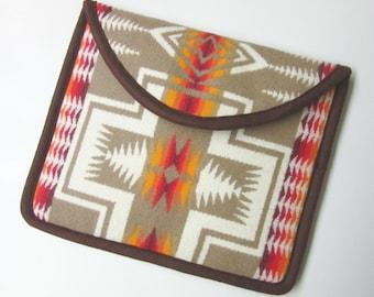 iPad Cover Case iPad Sleeve Padded Blanket Wool from Pendleton Oregon Native American Print