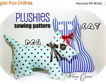 SALE How To Make Adorable Plushies Plush Toys Dog Doggie Scotty Cat Kitty PDF Sewing Pattern Instant