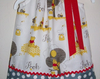 Girls Dress Pillowcase Dress Winnie the Pooh Dress Pooh Party Pooh Clothes baby dress toddler dress Pooh Bear Pooh Birthday Dress