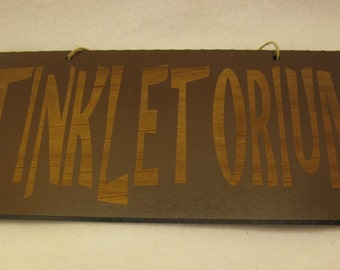 5x10 Tinkletorium Painted Wooden Sign for the bathroom