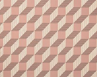 1950's Vintage Wallpaper - 3D Design Geometric Block