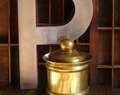 Vintage Brass Tobacco Jar Apothecary Jar Brass Decor